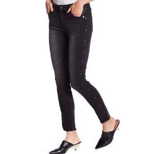 Versace V1969 Italia Grommet Skinny Jeans Black 27